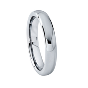 Classic Smooth 4 mm Tungsten Ring
