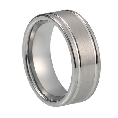 Dual Groove Tungsten Rings