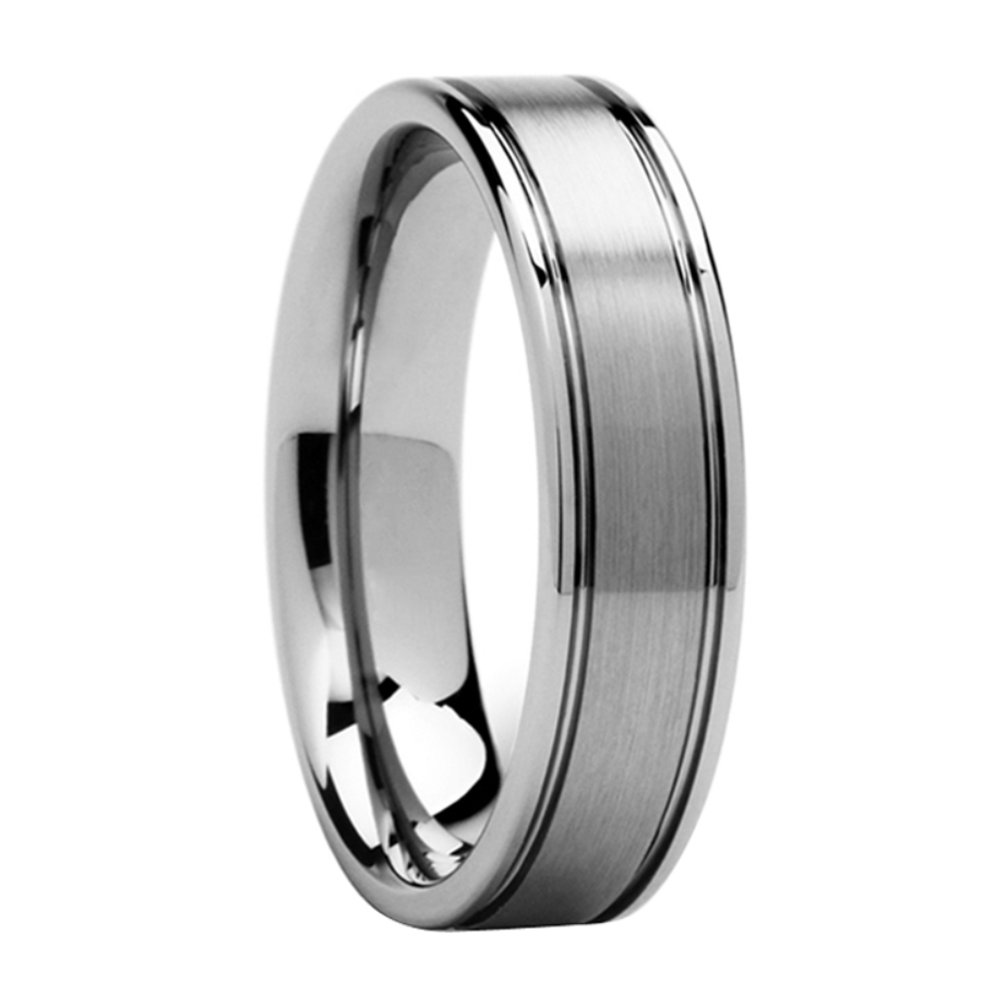 band wedding carbide rope zoom ring loading bands silver tungsten