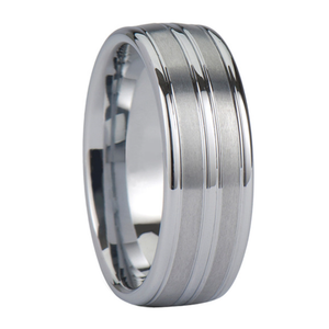 Grooved Tungsten Rings