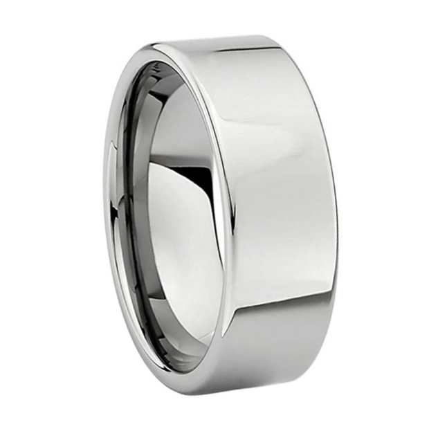 Custom Classic Polished Pipecut Tungsten Ring