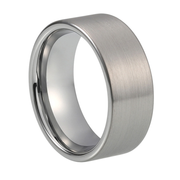 Custom Classic Brushed Pipecut Tungsten Ring