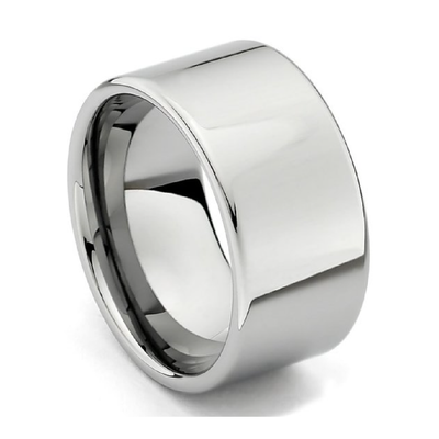 Custom Classic Wide Silver Tungsten Ring