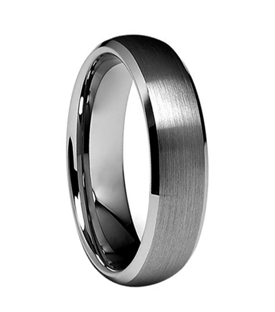 Custom Classic Round and Bevelled Edge Tungsten Ring