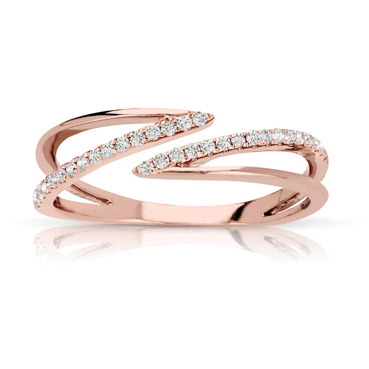 Double Swirl Women's Diamond Ring