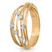 Spiraled Women's Diamond Ring