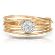 Spiral Cluster Women's Diamond Ring