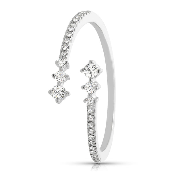 Spiral Women's Diamond Ring