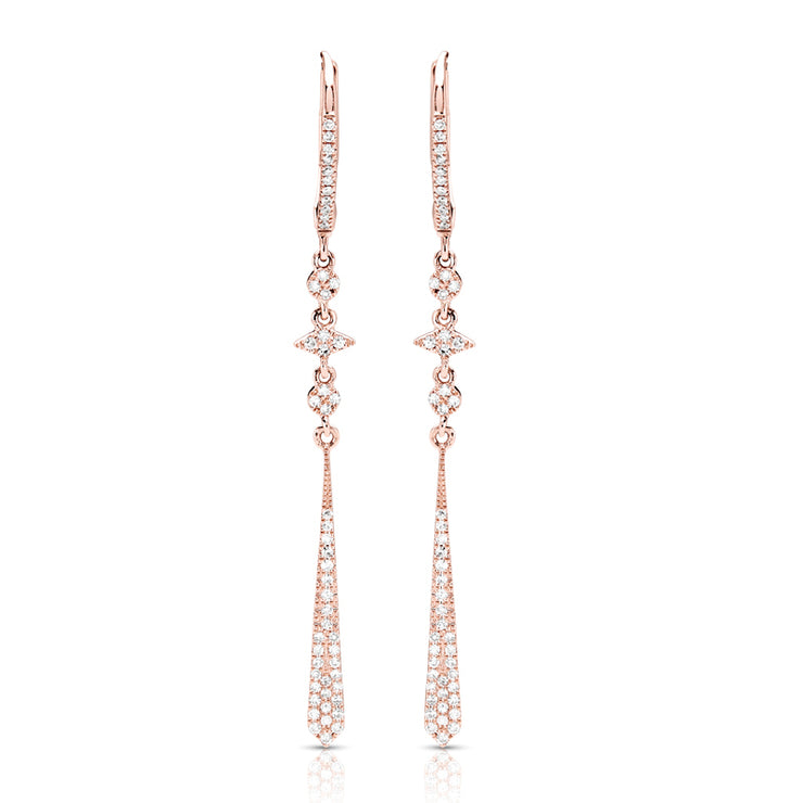 14ct Couture Drop Diamond Earrings