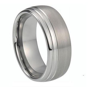 Custom Two Tone and Dual Grooved Tungsten Ring