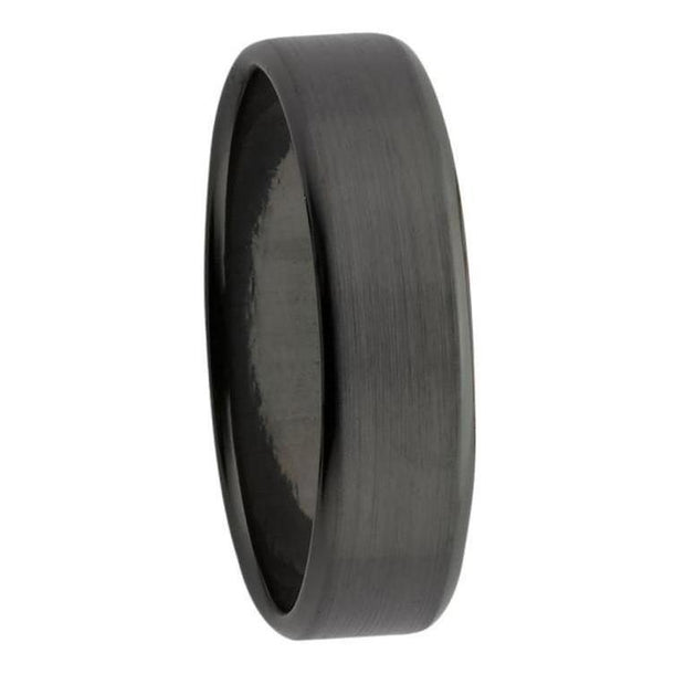 Custom Black Zirconium with Bevelled Edged Mens Ring