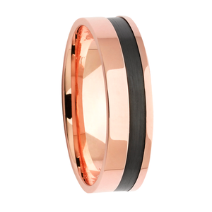 Rose Gold Mens Wedfding Rings