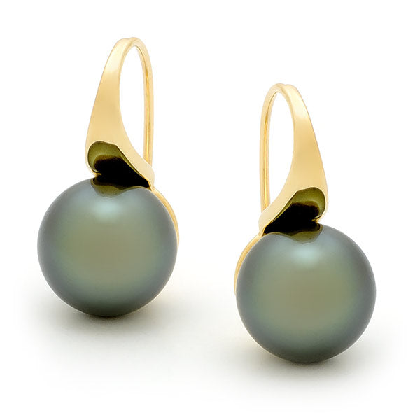 9ct South Sea Pearl Cup Pearl Earrings
