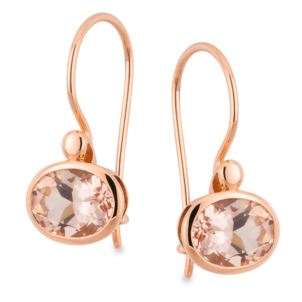 Morganite Bead/Bezel Set Earrings