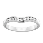 Custom Women's Fitted Diamond Wedding Ring - J3318
