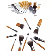 FREE 11-Piece Bamboo Make Up Brush Set with Purchase of $100+ gift card