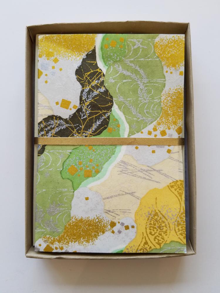 Kasanetsugi Green Handmade Boxed Cards