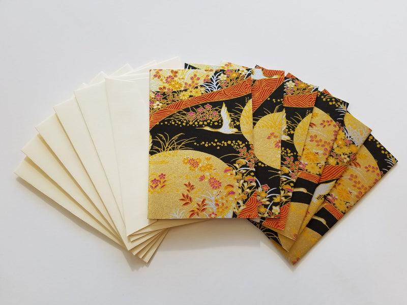 Gold Flower Fields Handmade Boxed Cards