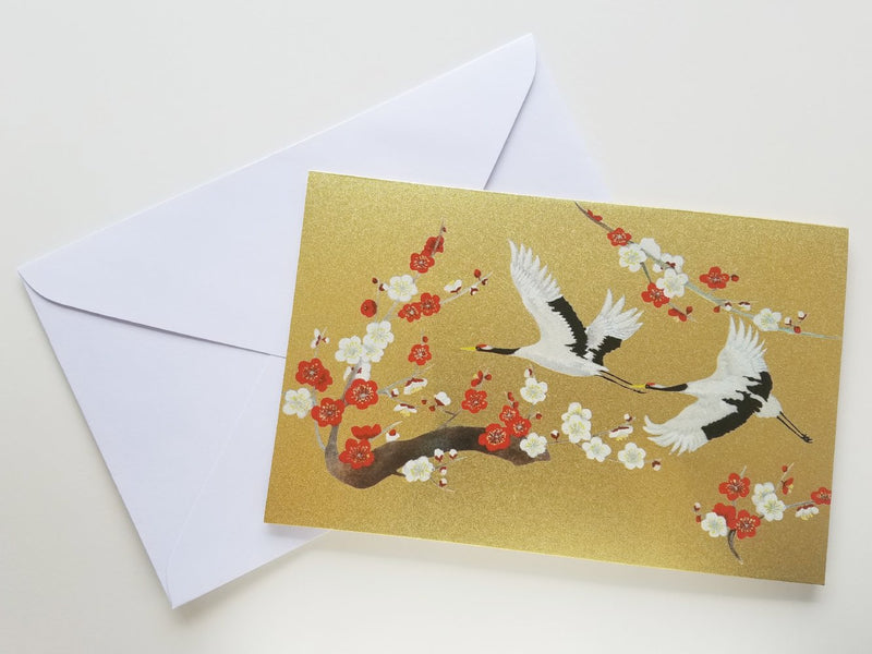 Two Cranes Blank Card