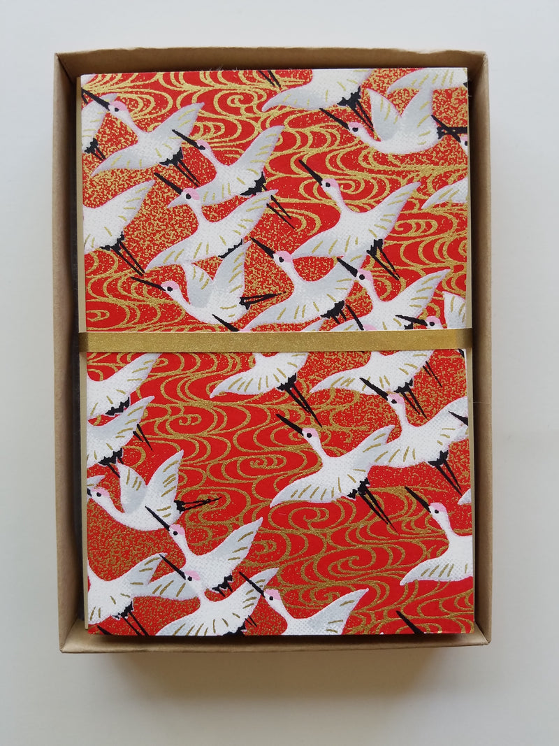 Flying Cranes Handmade Boxed Cards