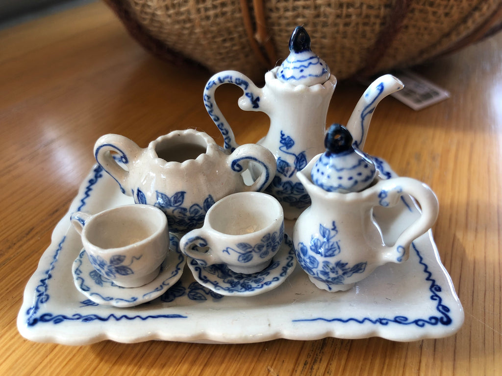 Mini Blue Coffee Set