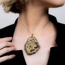 Load image into Gallery viewer, Gold Druzy Pendant