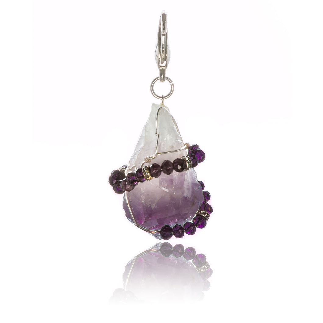 Amethyst Key Chain