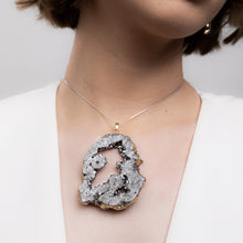 Load image into Gallery viewer, Silver Druzy Pendent