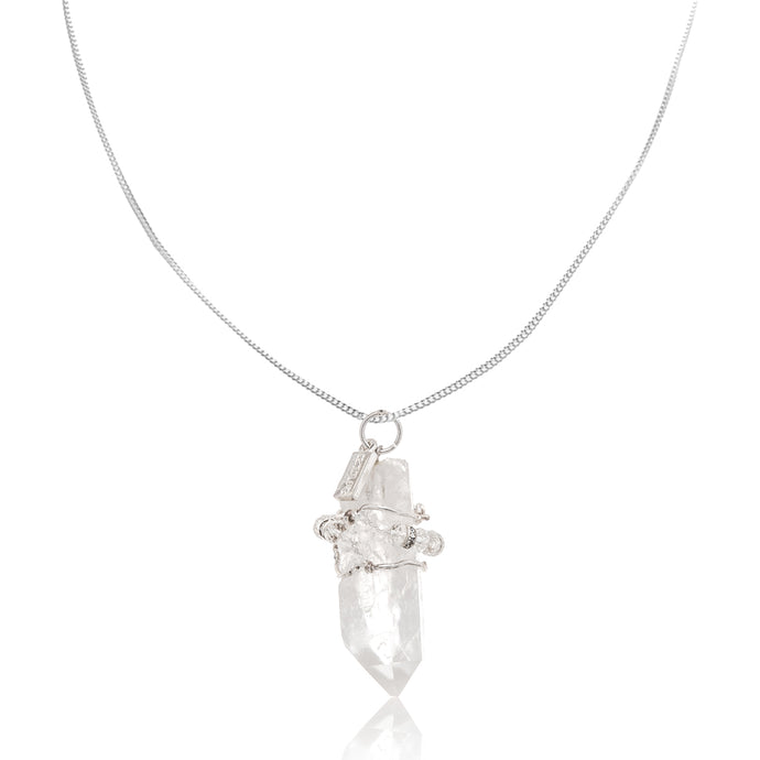 Crystal Quartz Gemstone Necklace