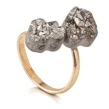 Load image into Gallery viewer, Silver Druzy Ring