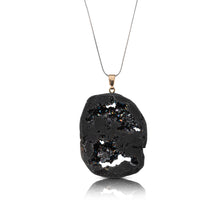 Load image into Gallery viewer, Black Druzy Pendant