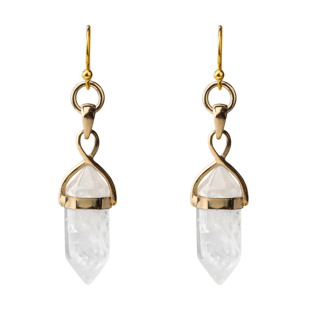 Crystal Point Pendant Earrings