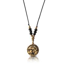 Load image into Gallery viewer, Round Gold Dainty Druzy Necklace