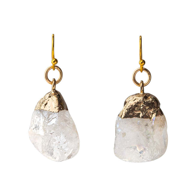 Rock Quartz Earrings