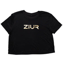 Load image into Gallery viewer, ZIUR Black Crop Top