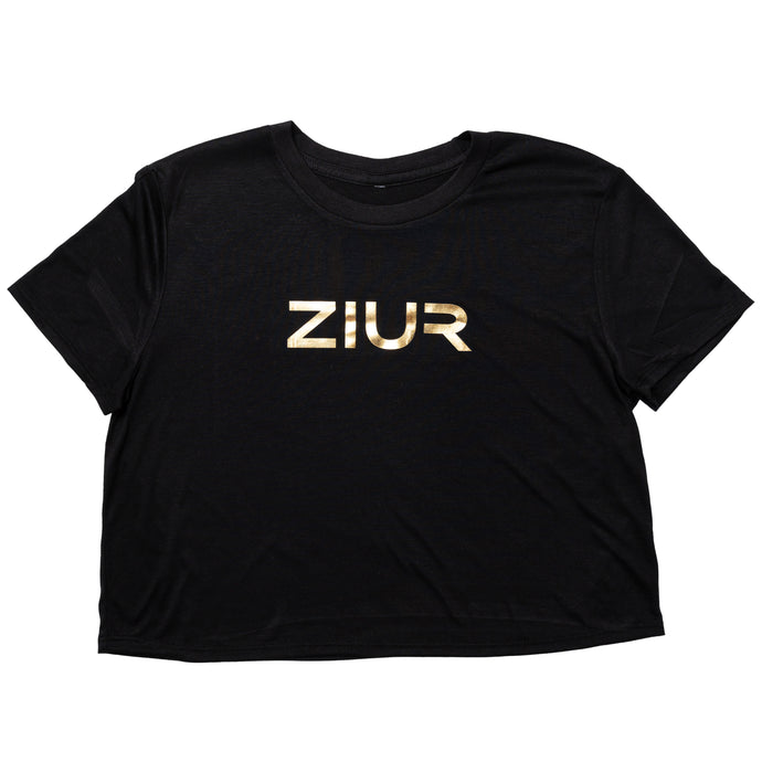 ZIUR Black Crop Top