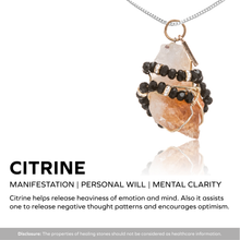 Load image into Gallery viewer, Citrine Gemstone Necklace