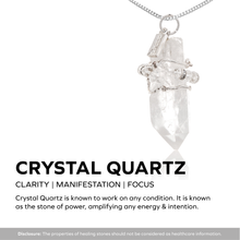 Load image into Gallery viewer, Crystal Quartz Gemstone Necklace