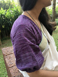 Cotton blouse, elastic at sleeve-Blouse-House of Taamara-House of Taamara
