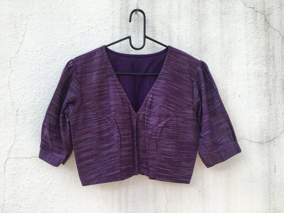 Cotton blouse, puff sleeve-Blouse-House of Taamara-House of Taamara