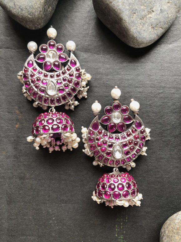 Kemp chand jhumkas-Earrings-PL-House of Taamara