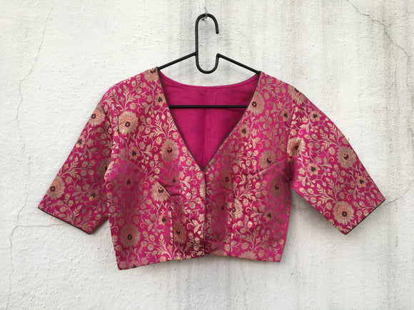 Pure Brocade Blouse-Blouse-House of Taamara-House of Taamara
