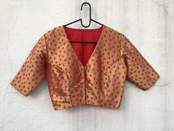 Semi Brocade Blouse-Blouse-House of Taamara-House of Taamara