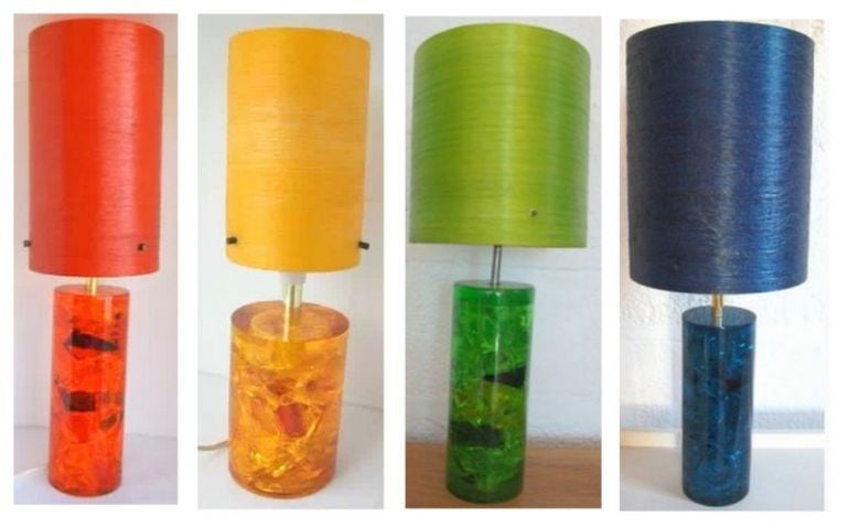 Vintage Toffee Paper Lamps