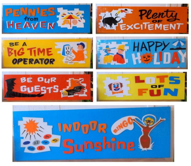 Amazing 1950s Holiday Camp Signs