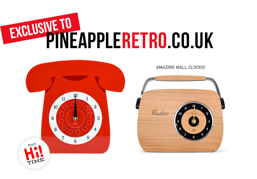 Designer Feature: You Make Me Design - Acrylic Retro Brooches, Necklaces, GPO Phones and Clocks