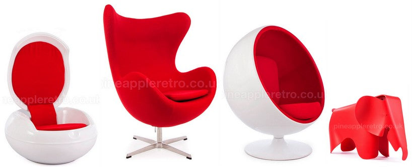 Red retro chairs