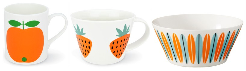 Orange mugs and bowl- Superliving