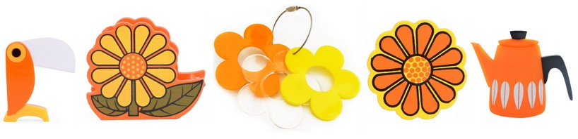 Orange Jewellery and desk accessories
