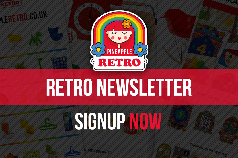 Pineapple Retro Newsletter - Sign Up Now